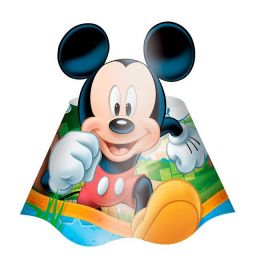 Chapéu Decorado Mickey Diversão c/08 unidades