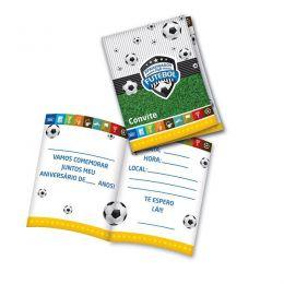 Convite Apaixonados Por Futebol c/08 unidades