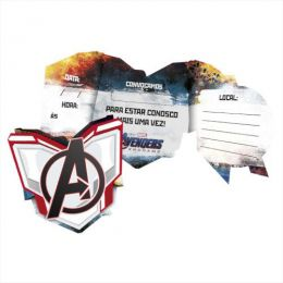 Convite Avengers 4 c/08 unidades
