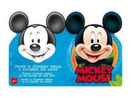 Convite Mickey Diversão c/08 unidades