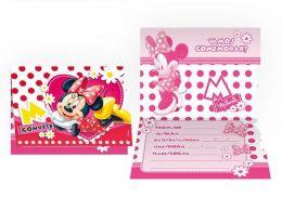 Convite Red Minnie c/08 unidades