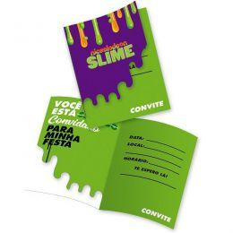Convite Slime c/08 unidades