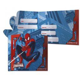 Convite Ultimate Spider Man c/08 unidades
