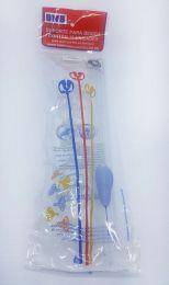 Suporte para balão cristal c/10 unidades - 30 cm