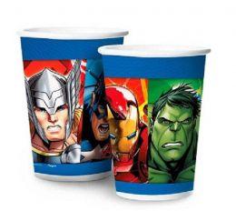Copo de Papel Decorado Avengers Animated c/08 unidades - 180 ml