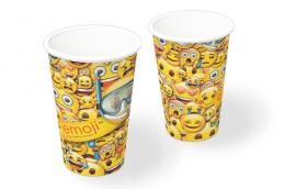 Copo de Papel Decorado Emoji c/08 unidades - 200 ml