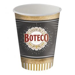 Copo de Papel Decorado Festa de Boteco c/ 8 unidades - 200 ml