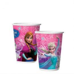 Copo de Papel Decorado Frozen c/08 unidades - 180 ml