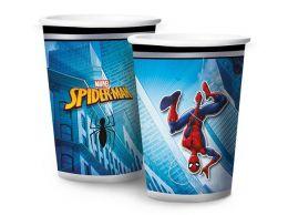 Copo de Papel Decorado Spider Man Animação c/08 unidades - 180 ml