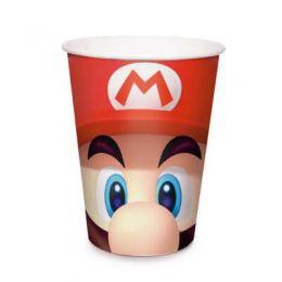 Copo de Papel Decorado Super Mario c/08 unidades - 240 ml