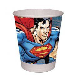 Copo de Papel Decorado Superman c/08 unidades - 200 ml