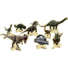 Decoração de Mesa Jurassic World c/08 unidades