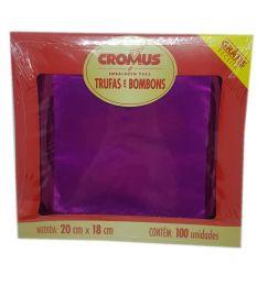 Embalagem p/ Trufas e Bombons Liso Pink 20 cm x 18 cm c/100 unidades
