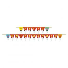 Faixa Feliz Aniversário Pocket Monsters c/01 unidade