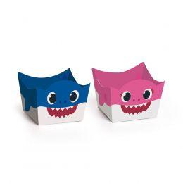 Forminhas Para Docinhos Mommy e Daddy Shark c/24 unidades