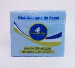 Guardanapo Camp Azul Claro 20 cm x 23 cm c/50 unidades