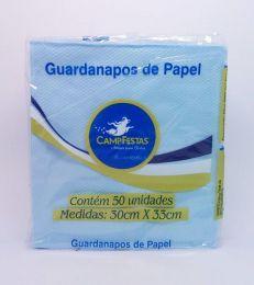 Guardanapo Camp Azul Claro 30 cm x 33 cm c/50 unidades
