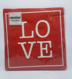 Guardanapo Cromus Love 33 cm x 33 cm c/20 unidades