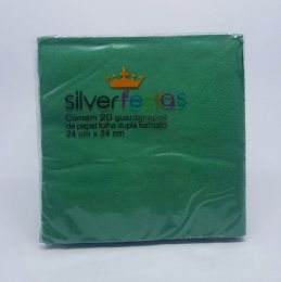 Guardanapo Silver Festas Verde 24 cm x 24 cm c/20 unidades