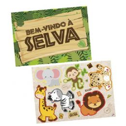Kit Decorativo Bem-Vindo À Selva