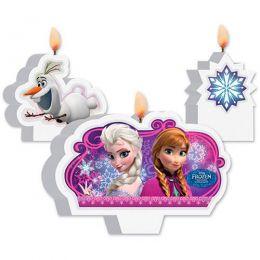 Kit Vela Decorada Frozen c/03 unidades