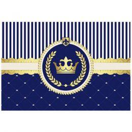 Painel 4 Laminas Realeza Azul