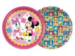 Prato Decorado Baby Disney Minnie c/08 unidades