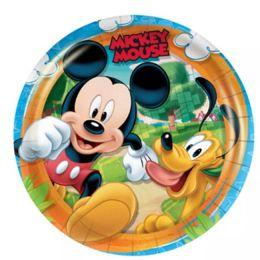 Prato Decorado Mickey Diversão c/08 unidades