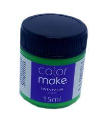 Tinta Facial Colormake Fluorescente Verde 15 ml - unidade