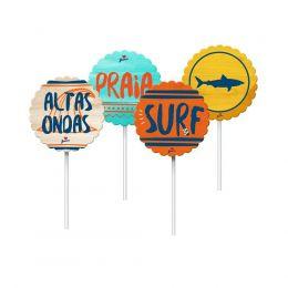 Toppers para Doces e Salgados Surf c/08 unidades