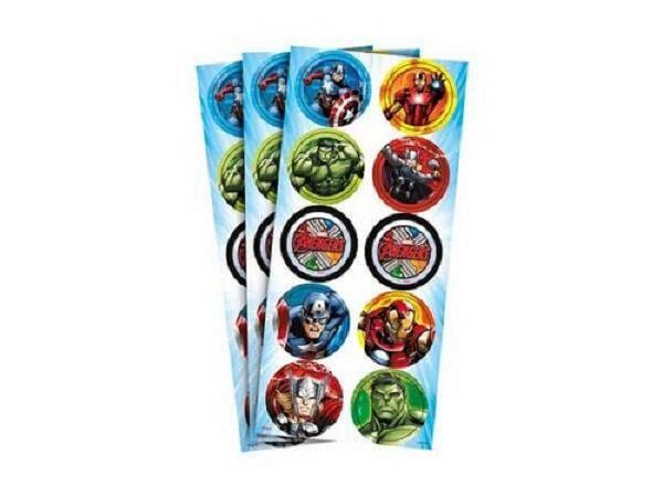 Adesivo Avengers Animated c/30 unidades