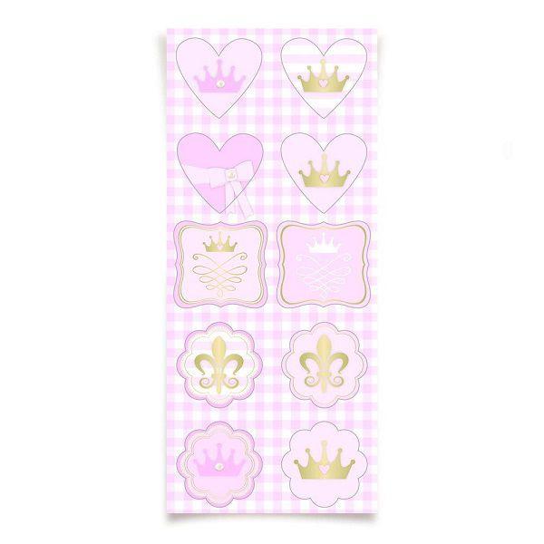Adesivo Decorativo Reinado da Princesa c/30 unidades