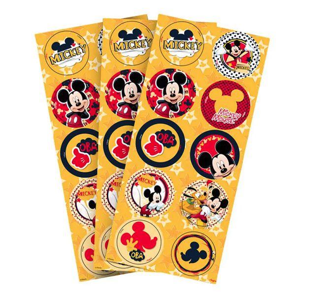 Adesivo Mickey Clássico c/30 unidades