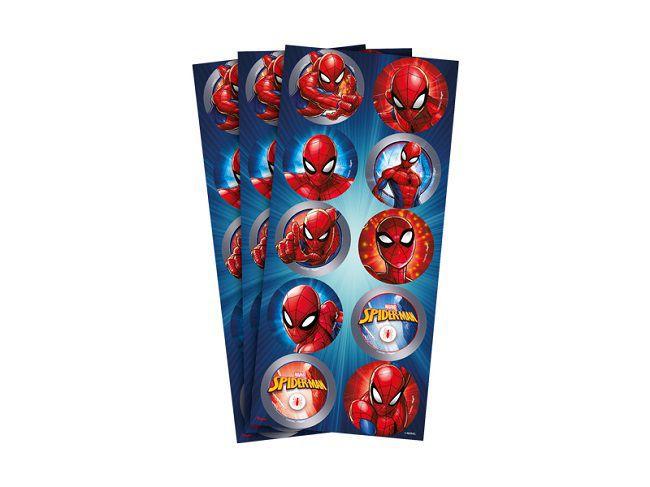 Adesivo Spider Man Animação c/30 unidades