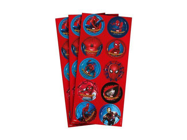Adesivo Spider Man Home Coming c/30 unidades