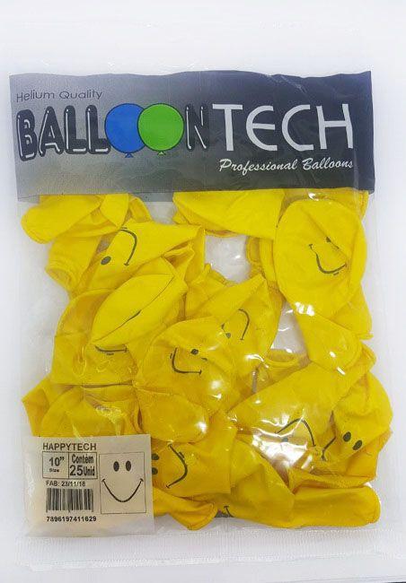 """Balão Balloontech 10"""" Happytech  c/25 unidades"""