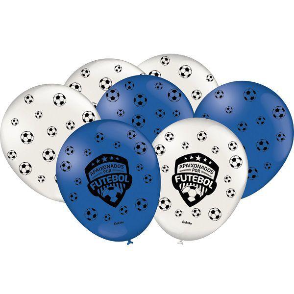 """Balão Decorado 9"""" Apaixonados Por Futebol c/25 unidades"""