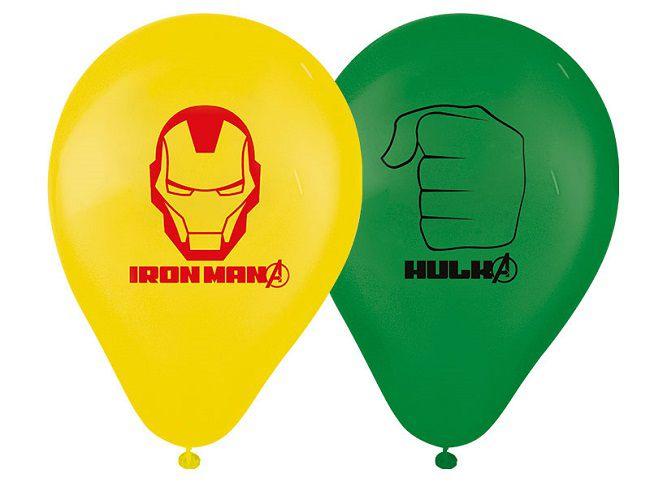 """Balão Decorado 9"""" Avengers Animated c/25 unidades"""