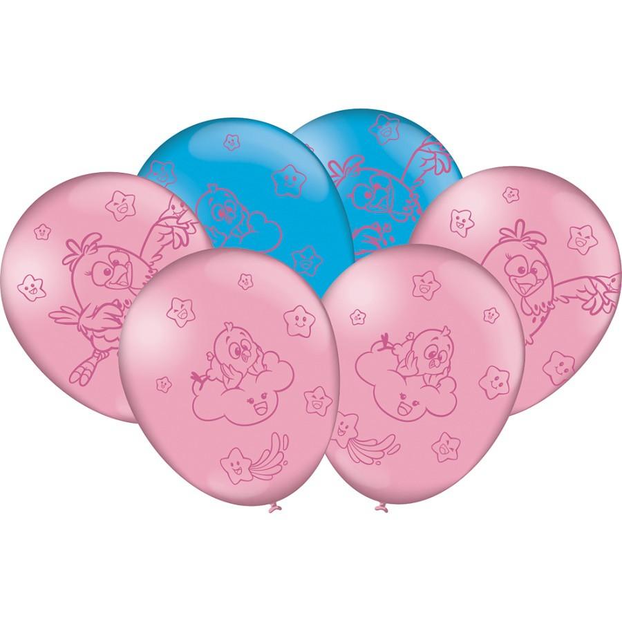 """Balão Decorado 9"""" Galinha Pintadinha Candy c/25 unidades"""