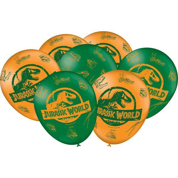 """Balão Decorado 9"""" Jurassic World c/25 unidades"""