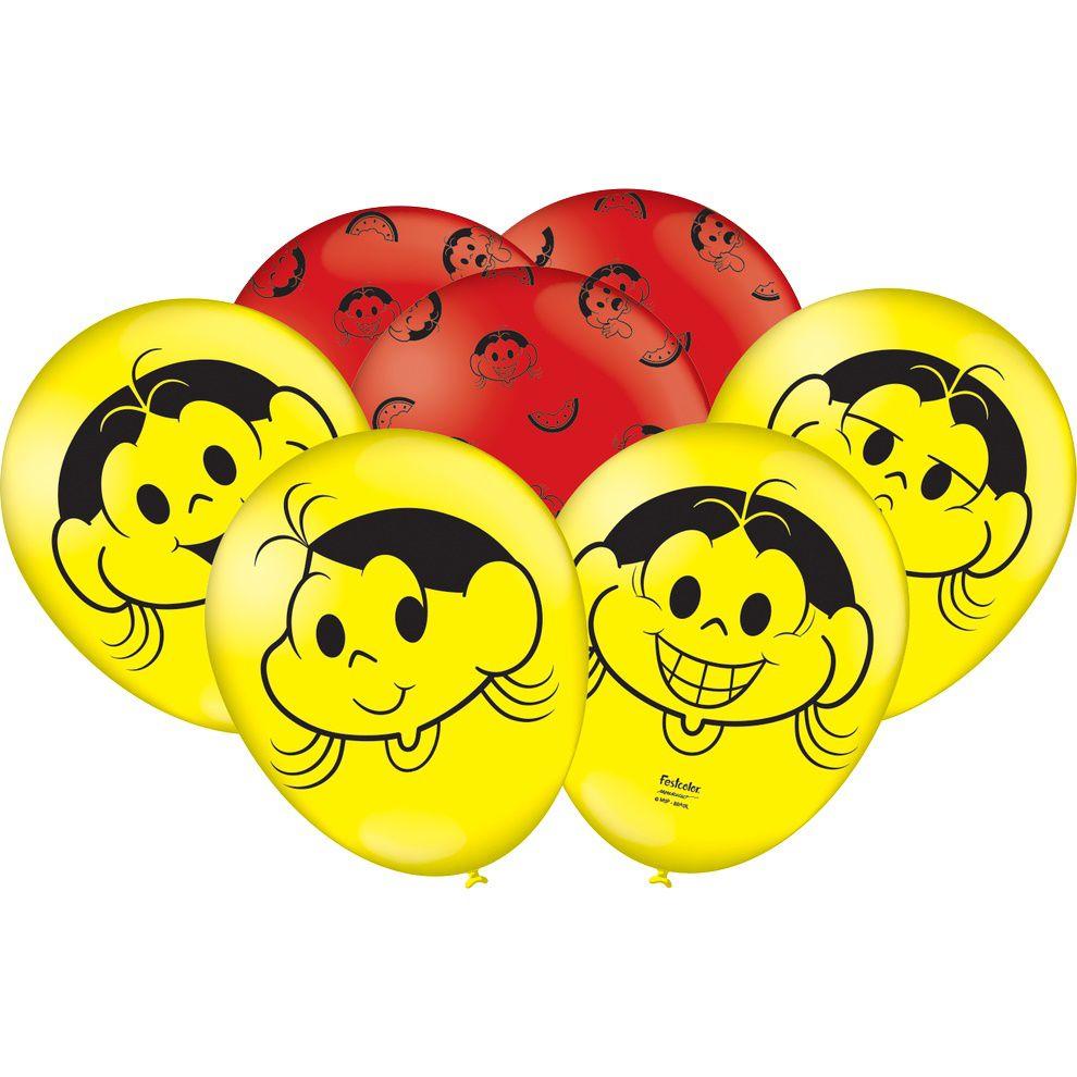 """Balão Decorado 9"""" Magali c/25 unidades"""