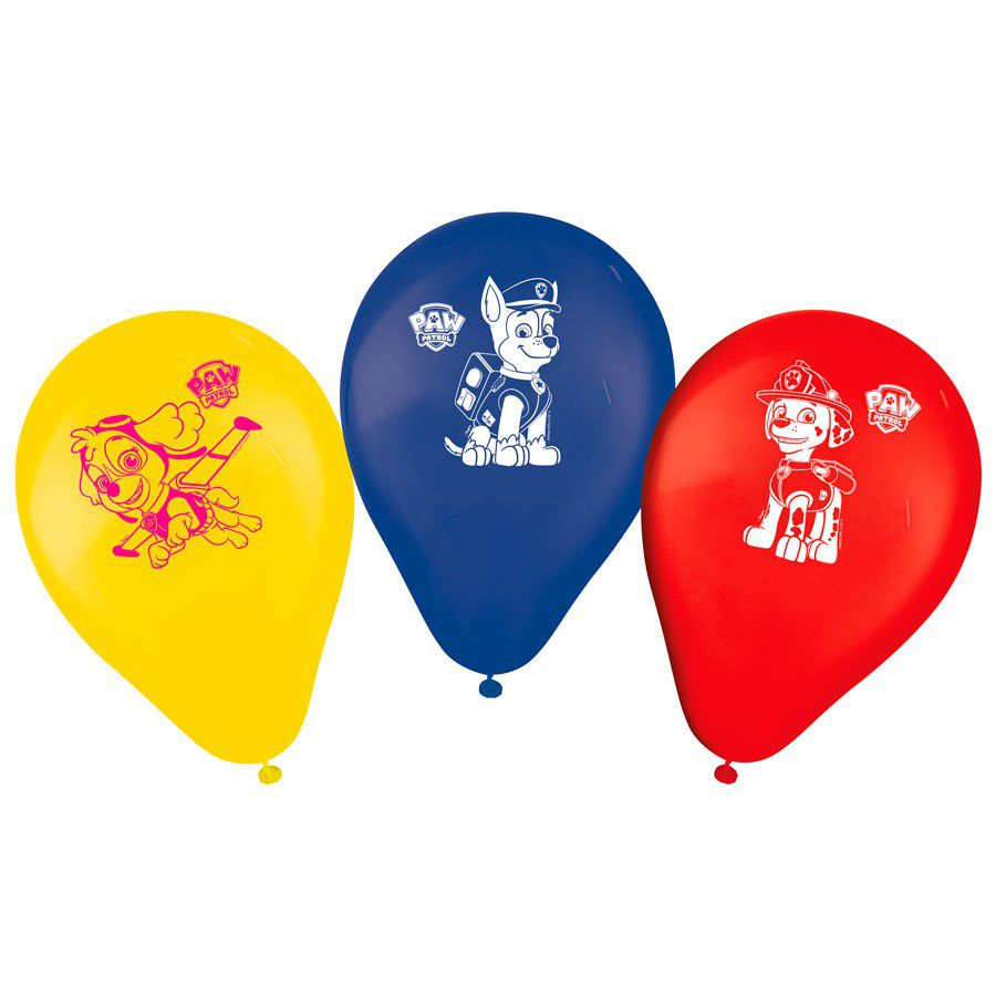 """Balão Decorado 9"""" Patrulha Canina c/25 unidades"""