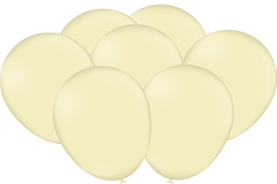 """Balão Festcolor Macarron 9"""" Amarelo c/25 unidades"""