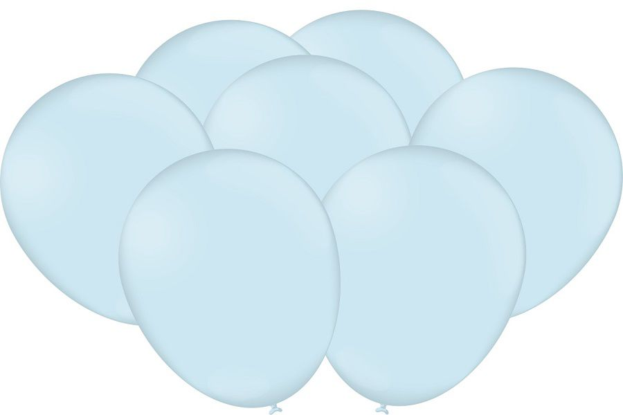 "Balão Festcolor Macarron 9"" Azul Claro c/25 unidades"
