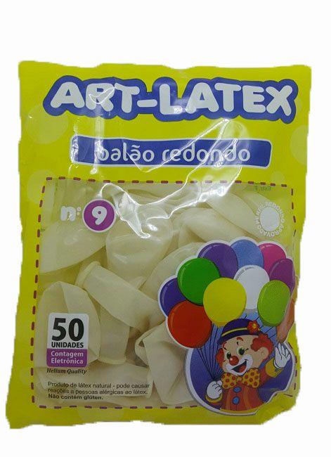 Balão Liso Art-Latex Cristal nº 9 - c/50 unidades