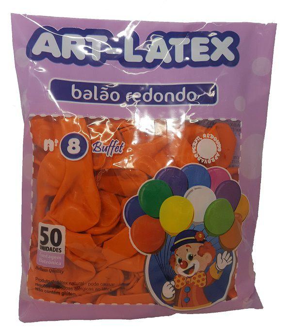 Balão Liso Art-Latex Laranja nº 8 - c/50 unidades