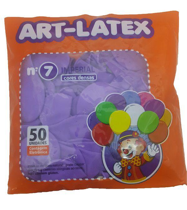 Balão Liso Art-Latex Lilás nº7 - c/50 unidades
