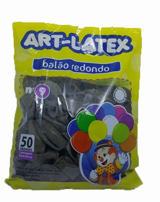 Balão Liso Art-Latex Marrom nº 9 - c/50 unidades