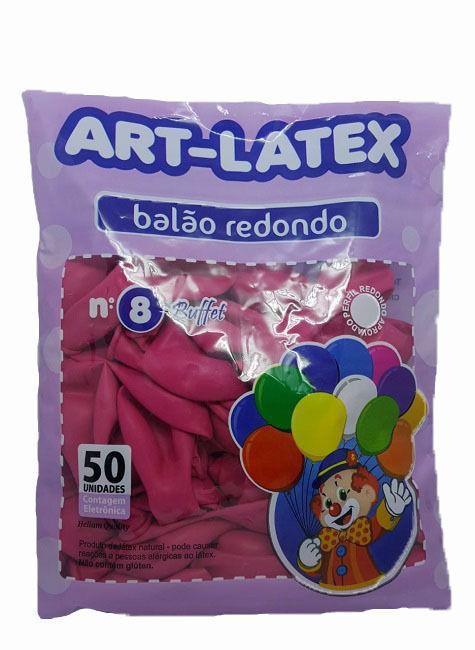 Balão Liso Art-Latex Rosa Maravilha nº 8 - c/50 unidades