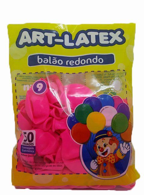 Balão Liso Art-Latex Rosa Pink nº 9 - c/50 unidades